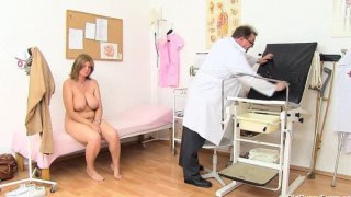 Mature gyno in addition to dildoes and bang toys