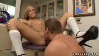 Kara Novak gets a face full of cock.