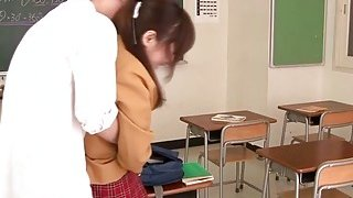 Japanese cutie horny for a big cock after school
