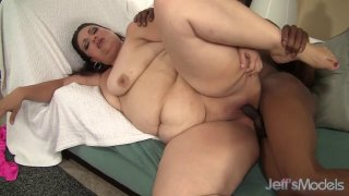 A Black Dude Fucks Plumper Angelina and Cums in Her Face
