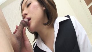 Kinky Japanese teacher Emi Orihara seduces geezer