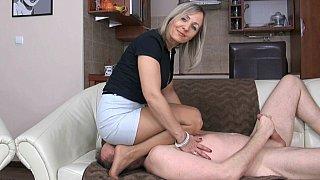 Grandma's femdom facesitting