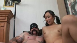 Exotic bitch Bella Ling blows cock in 69 style