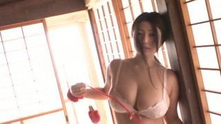 Bosomy milk skinned Japanese sweetheart Nonami Takizawa has a huge boobs
