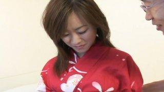 Meaty cunt of Japanese girlie Miina Minamoto gets eaten