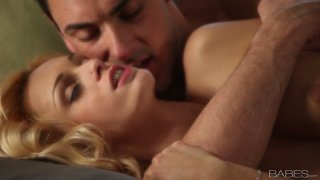Romantic sexy girlie Erica Fontes gets fucked from behind on the couch
