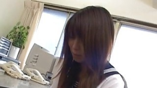 Riko Araki gets pussy teased and swallows cock in hot blowjob