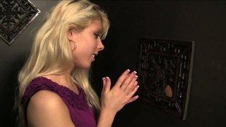 Amazing blonde Lauren Nicole undresses and blows dicks