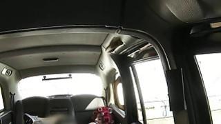 Busty redhead sucks huge cock pov in cab