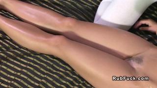 Lesbian ass and pussy massage