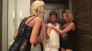 Alice Miller & Christina Schmidt & Kiki & Ophelia & Vicktoria Tiffany in lesbians enjoying lusty college sex party