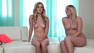 Slutty blonde duo