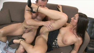 Brownhead trollop Simone Style gets her wet twat licked dry and thrusted hard form behind