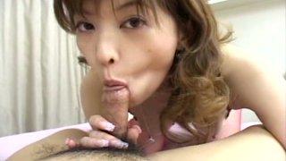 Saucy Japanese slut Tyara shows how well she sucks cocks