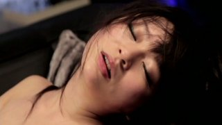 The guy with small dick eats and drills hairy twat of Nozomi Hazuki