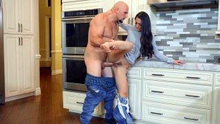 Mi Ha Doan gets banged standing in the kitchen