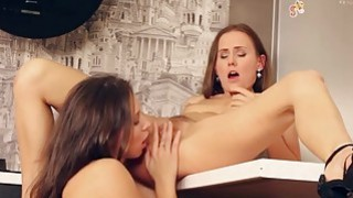 Beautiful porn film with lesbian action
