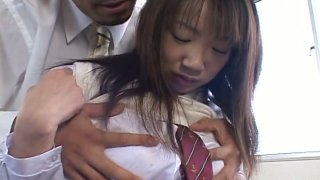 Cute Japanese student Ai Yumemi gets seduced by her teacher