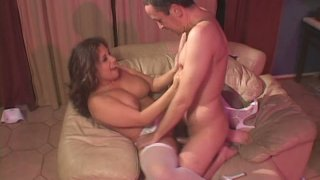 Brown head Breana Tabu is fucked tough from behind