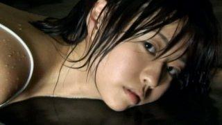 Lovely Asian brunette sexpot Hitomi Kitamura is in a bad mood