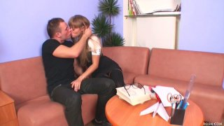 Horny college chick Winter wants to suck and fuck handsome boy Nick