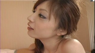 Voracious Japanese babe Yume Imano rides the dick upskirt