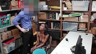 Ebony shoplifter Daya Knight deserves a hot sex